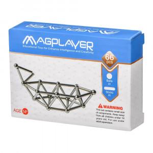 Магнітний конструктор Magplayer Палички і кульки 66 елементів (MPS-66)